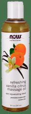 Now Foods Refreshing Vanilla Citrus Massage Oil 8 fl oz
