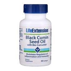 Life Extension ブラッククミンシードオイル With バイオクルクミン 60ソフトジェル