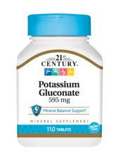 21st Century グルコン酸カリウム 595 mg 110 錠