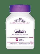 21st Century ゼラチン 600 mg 100 カプセル