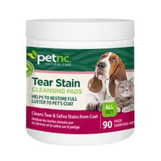 petnc Natural Care ティアステインクレンジングパッド犬猫用90パッド