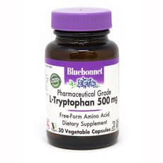 Bluebonnet Nutrition L-Tryptophan 500 mg 30 Veg Capsules