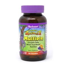 Bluebonnet Nutrition レインフォレストアニマルズ ホールフードベース総合ビタミン 180チュアブル錠