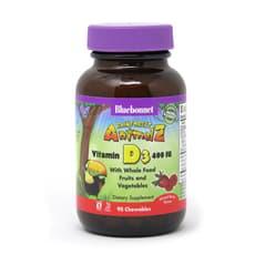 Bluebonnet Nutrition Rainforest Animalz ビタミンD3 400 IU 90チュアブル錠
