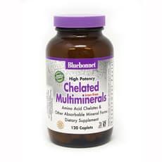 Bluebonnet Nutrition キレート化されたマルチミネラル鉄 120カプレット