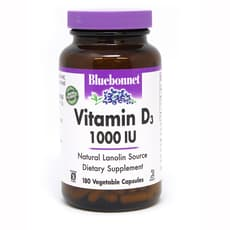 Bluebonnet Nutrition Vitamin D3 1,000 IU 180 Veg Capsules