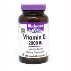 Bluebonnet Nutrition Vitamin D3 2,000 IU 180 Veg Capsules