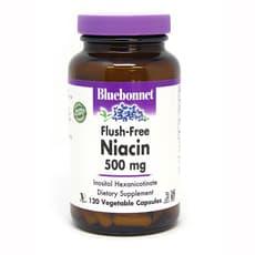 Bluebonnet Nutrition フラッシュフリー ナイアシン 500mg 120ベジカプセル