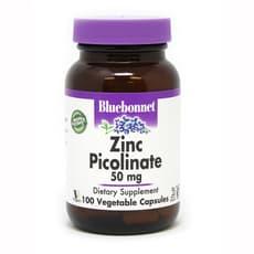 Bluebonnet Nutrition Zinc Picolinate 50 mg 100 Veg Capsules