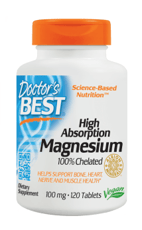 Doctor' Best 高吸収マグネシウム100 mg 120 錠