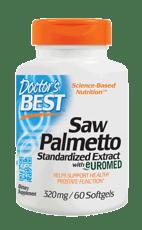 Doctor's BEST ベストのこぎりパルメット標準抽出物 320 mg 60ソフトジェル