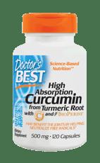 Doctor's BEST ハイアブソープション クルクミン 500 mg 120 カプセル