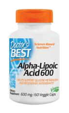Doctor's Best アルファリポ酸 植物性 600 mg  60ベジカプセル