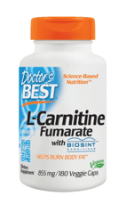 Doctor's Best L-カルニチンフマル酸塩855 mg 180ベジカプセル