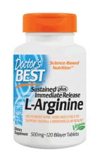 Doctor's Best L-アルギニン持続プラス 500 mg 120錠