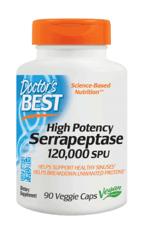 Doctor's Best 高効能セラペプターゼ120,000 SPU 90 ベジカプセル