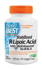 Doctor's Best BioEnhanced Na-RALAで安定化されたR-リポ酸 60 ベジカプセル