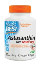 Doctor's Best アスタキサンチンプラス アスタピュア 6 mg 60ベジソフトジェル