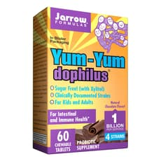 Jarrow Formulas Yum Yum ドフィルス 10億乳酸菌 チョコレート味 60チュアブル錠