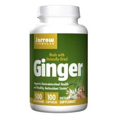 Jarrow Formulas ジンジャー 500 mg 100 カプセル