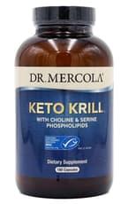 Dr.Mercola Keto Krill with Choline & Serine Phospholipids 180 Capsules