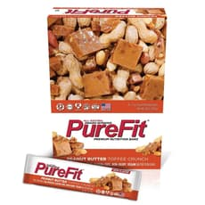 Purefit Nutrition Peanut Butter Toffee Crunch Bars 15 Bars