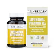 Dr. Mercola リポソマル ビタミン D3 5,000 IU 30カプセル