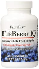 FruitFast ワイルド ブルーベリー IQ 60ソフトジェル