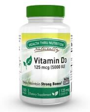 Health Thru Nutrition ビタミンD3 125mcg 5,000 IU 100ソフトジェル