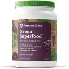 Amazing Grass Green SuperFood Antioxidant Sweet Berry Drink Powder 24.7 oz