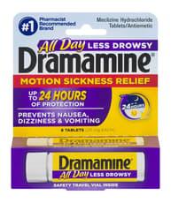 Dramamine 一日中眠くない ドラマミン 8錠(酔い止め、吐き気)