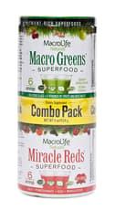 MACROLIFE NATURALS Macro Greens and Miracle Reds Combo Pack 4 oz
