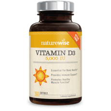 Naturewise Vitamin D3 5,000 IU 360 Softgels