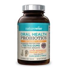 Naturewise Oral Health Probiotics Time-Release Probiotics 3 Billion CFU 50 Chewable Tablets