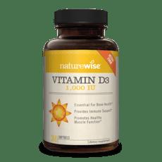Naturewise Vitamin D3 1,000 IU 360 Softgels