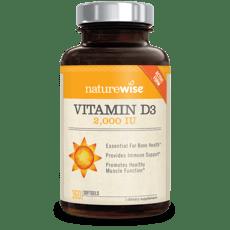 Naturewise Vitamin D3 2,000 IU 360 Softgels