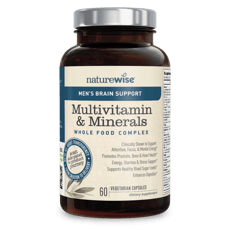 Naturewise Mens Multivitamin & Mineral With Brain Support 60 Capsules