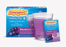 Emergen-C イミューン+ビタミンD、ブルーベリー&アサイー30包