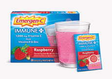 Emergen-C  イミューン + ビタミンD ラズベリーフレーバー 30包