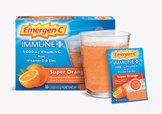 Emergen-C イミューン+ビタミンD、スーパーオレンジ 30包