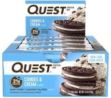 Quest Nutrition クエストバープロテインバー クッキー&クリーム味 12個入り