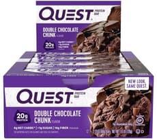 Quest Nutrition クエストバープロテインバー ダブルチョコレートチャンク味 12個入り