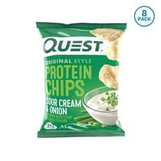 Quest Nutrition  プロテインチップスサワークリーム&オニオン (8個パック) 8個入