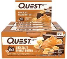 Quest Nutrition クエストバープロテインバー、チョコレートピーナッツバター味 12個入り