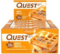 QuestBar Protein Bar Maple Waffle 12 Bars