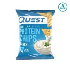 Quest Nutrition トルティーヤスタイルプロテインチップスランチ (8個パック) 8個入