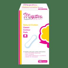 Maxim Hygiene Products ナチュラル クラシック コンターパッド、レギュラー 羽なし 16枚