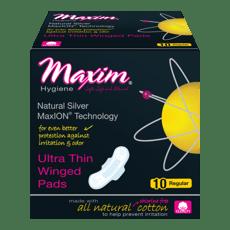 Maxim Hygiene Products MaxION  羽つき 生理用紙 レギュラーパッド 10パッド