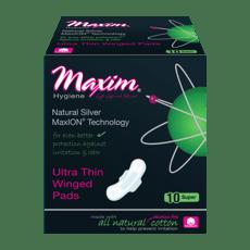 MaxION Ultra Thin 羽つき 生理用紙 スーパーパッド 10パッド