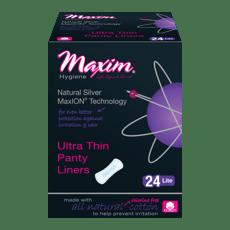Maxim Hygiene Products MaxION Ultra Thin ライト パンティライナー 生理用紙 羽なし 24 枚